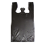 Black Plastic Plain T-Shirt Bags, 15 in x 7 in x 25 in, High Density 15 Micron, 1000 Per Carton