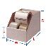 Corrugated Self-Locking Jumbo Open Top Bin Box White, 12 x 12 x 8, 25 Per Bundle
