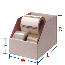 HP-B42 Corrugated Self-Locking Bin Boxes White, 24 x 4 x 6, 50 Per Bundle
