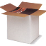 Regular Slotted Containers White, SingleWall, 4 x 4 x 4, 25 Per Bundle