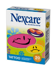 Nexcare Tattoo Waterproof Bandages Cool Collection Nexcare 594 20