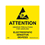 SCS 7202 - 2 in x 2 in, Destructible Caution Label, RS-471 ESD Symbol, Yellow, 500 Labels per Roll