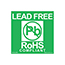 SCS ROHSLABEL - 1.75 in x 1.75 in, Lead Free Label, RoHS, Green, 500 Labels per Roll