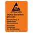 SCS 7101 - 1.8 in x 2.5 in, Reusable Caution Label, JEDEC-14 ESD Symbol, RS-471, Orange, 500 Labels