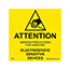 SCS 7201 - 2 in x 2 in, Reusable Caution Label, MIL-STD-129N, Yellow, 500 Labels per Roll