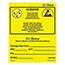 SCS DRILABEL - 4 in x 4 in, Dri-Shield ESD Awareness Label, EIA 583, Yellow, 100 Labels per Roll