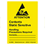 SCS ALABEL - 1-7/8 in x 2-1/2 in, Attention Label, ANSI/ESD S8.1 ESD Symbol, RS-471, Yellow, 500 La