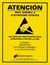 SCS Esd Warning Posters, 17 In. X 22 In., Spanish, 5/Box