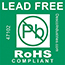 PP 47102 - Label, Lead-Free, ROHS Compliant, 3 in Core, 500 Labels per Roll