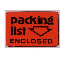 Label PACKING LIST Packing Labels CA43 Red Flourescent, Packing List Enclosed, 2 Inch x 3 Inch, 500